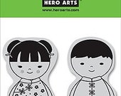 Reserved -- Hero Arts Rubber Stamps Clings Friends CG106