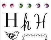 "Hero Arts Rubber Stamps ""H"" Monogram Set CL197"