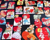 Six (6) Vintage Valentines from the 40's and 50's