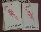 Valentine Rose Love and Kissed Set of 10