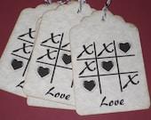 6 Tic Tac Toe Love gift Tag
