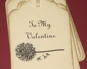 To My  Valentine Gift Tags Set of 8