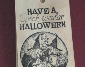 6 Halloween Witches Gift Tags