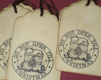 6 Christmas Do Not Open Till Chrismtas  Gift Tags