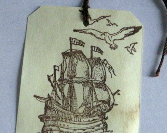 40 Pirate Ship  Gift Tags