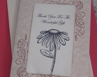 Thank You For The Wonderful Gift   Wedding Day Card