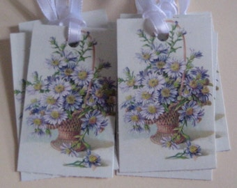 Basket of Flowers Gift Tags