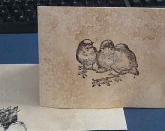 Greeting Card Note Card with Birds