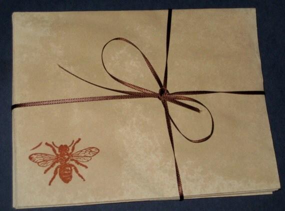 Set of 6 Bee Envelopes