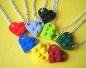 NEW COLORS Lego Heart Necklace