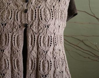 """Knitting Pattern (PDF) : """"Butterfly Swing"""" Vest by DanDoh, Yumiko Alexander"""