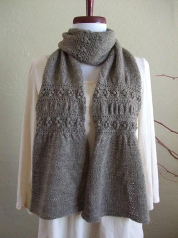 Knitting Pattern Hat Scarf Combo : PDF Pattern: Garden Gate Scarf & Hat Combination of by DanDoh
