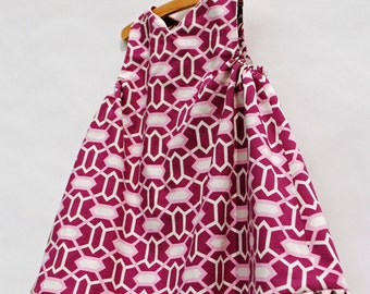 Reversible Jumper Dress in Pink and Plum, sizes 12m 2t 3t 4t