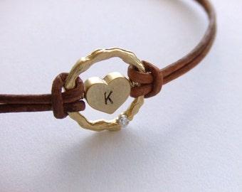 Eternity of the Heart Jewelry Bracelet - Personalized Jewelry - 16K Gold Plated Bracelet