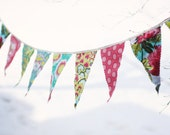 RESERVED for The Ardent Sparrow - Amy Butler Soul Blossoms Fabric Bunting