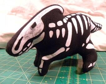 NEW - Dinosaur - Dino - Skeleton - Duckbill - Plush Toy
