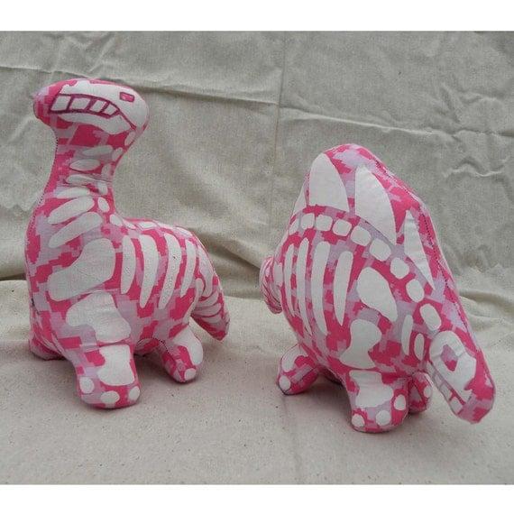 Dinosaur (SPECIAL EDITION) - Dino - Skeleton - Pink - Brontosaurs - Plush Toy