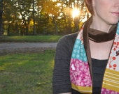 Scarf with Rondo and Brown Minky