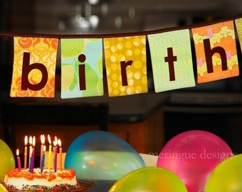 PATTERN Happy Birthday Fabric Banner PDF format