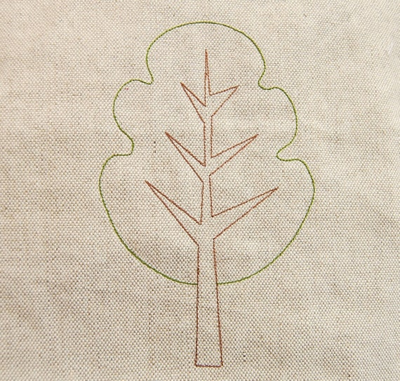 Modern maple tree machine embroidery design