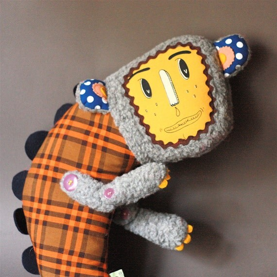 ON SALE Plush Monster Yalloup Von Racletten (with screenprinted face)