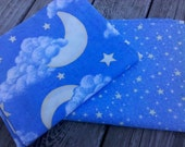 Moon Stars fabric perfect for baby quilt DESTASHING 2 at  44 in x 66 in