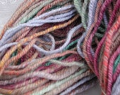 SPIN DEL Skeins (tm) hand spun wool yarn Fraid Knot skein OOAK The Knotty Sheep (tm)