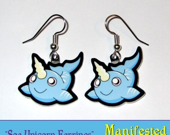 Narwhal Earrings - Unicorns of the Sea
