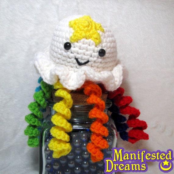Jellyfish Plush - Rainbow Amigurumi Crochet