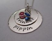 Stacked LOVE  Personalized Necklace for MOM
