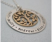 Family Tree Necklace - Family Name Necklace - Mothers Necklace - Personalized Jewelry - Tree Of Life Necklace - Mom Jewelry - Gift For Her