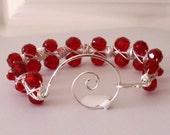Red Scarlett's Wire Wrapped Bracelet