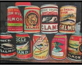 Vintage Northwest Fishing Salmon Cans Fine Art Photograph