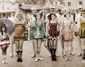 Bathing Beauty Flapper Girls 1921 Redondo Beach CA photo poster panorama