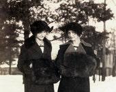 vintage photo 1913 Helene and Margarethe Meyers Photo Postcard rppc