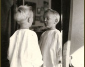 Little David and His Reflection in the Mirror