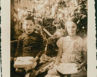 Children w Presents under Christmas Tree 1939