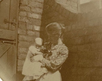 Mom loves her baby vintage photo