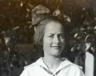 Helen in School clothes plaid skirt sailor shirt
