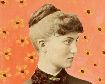 Young Woman from SAginaw Painted Photo GReeting Card