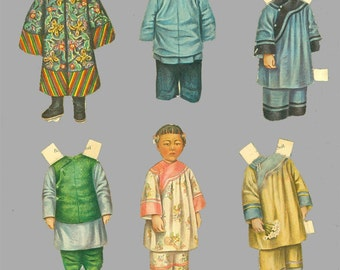 Chinese Paper Doll fine art photographic Print
