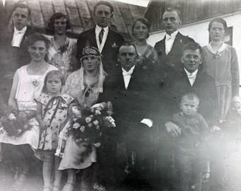 German Country Wedding vintage photo