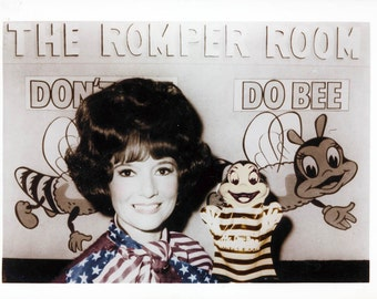 Romper Room w Miss Mary Ann tinted fine art photograph