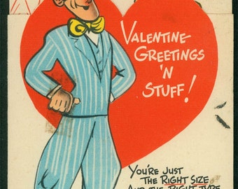 Vintage Valentine For the Guy by famous comic illustrator Hal Rasmusson