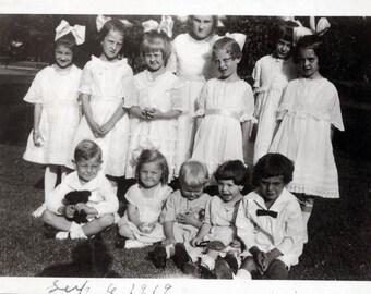 Summer Birthday Party Children vintage photo