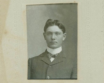 Handsome Young Pearl Maize Cabinet vintage photo