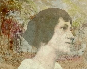 vintage photo Lost in her Dreams Photo Print