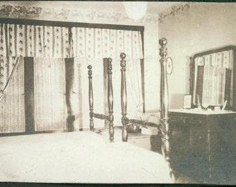 Vintage photo Interior 1910 Ella's Bedroom Mirror Beautiful Interior