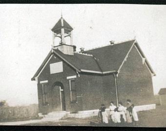 vintage photo Brick One Room School