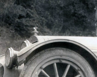 vintage photo Riding in the Country in Touring CAr